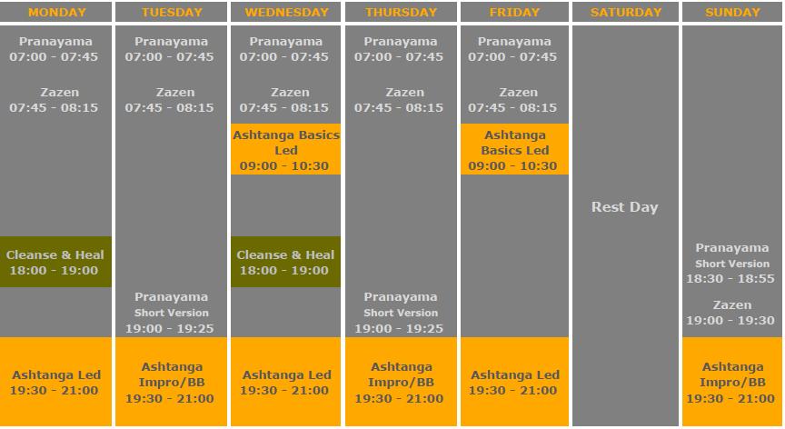 Schedule June 2020